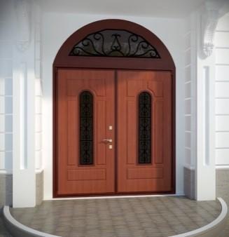 Входные двустворчатые двери