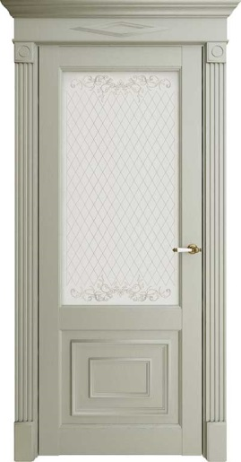 Межкомнатная дверь Florence 62002 Светло-серый Серена Остекленная