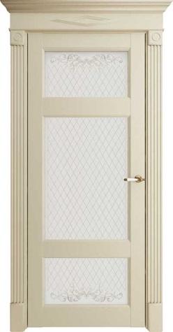 Межкомнатная дверь Florence 62004 Керамик Серена Остекленная